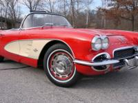 1961 CHEVROLET CORVETTE CONVERTIBLE. THE EXTERIOR IS