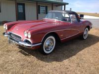 1961 Chevrolet Corvette Convertible equipped with a