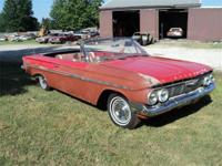 1961 Chevy Impala Convertible, car was stored for