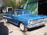 61 Chevy impala, BUBBLE TOP, 350 crate motor, 365HP,