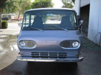 1961 FORD ECONOLINE, METALIC SILVER BLUE PEARL PAINT,