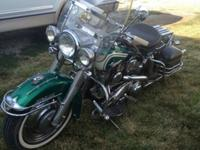 This is an original 1961 Harley Davidson Duo Glide with