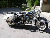1961 Panhead Duoglide.  Meticulously restored (painted)