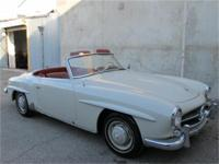 1961 Mercedes Benz 190SL Roadster Convertible with hard