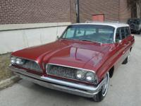 1961 PONTIAC CATALINA SAFARI STATION WAGON WITH 28,495
