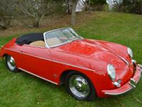 This is a 1961 Porsche 356B 1600S Roadster in excellent