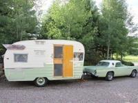 Originally intended for camping, vintage trailers are
