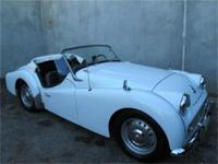 1961 Triumph TR3 1961 Triumph TR3, White with black