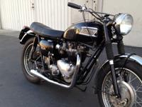 1962 Triumph Pre Unit 650 Bonneville. Last year for the