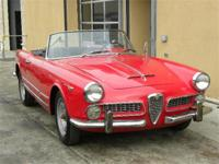 1960 Alfa Romeo 2000. Red with black interior.