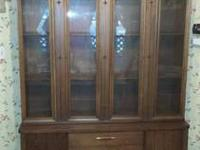 Antique China cabinet made by Broyhill- Saga series