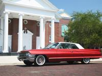 1962 Cadillac DeVille Series 62 Coupe Pompeian Red Good