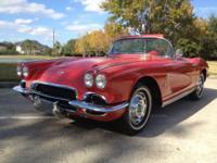 1962 Corvette Red / Red 2 Tops Strong running motor. 4