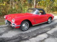 You are considering a 1962 Corvette convertible. It has