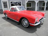 1962 Corvette Convertible. Roman Red exterior with a