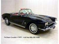 1962 Corvette Convertible, two tops, 327-360 hp,