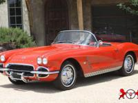 Beautiful Red 1962 Chevrolet Corvette. This vintage