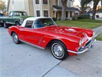 1962 Chevrolet Corvette roadster with Black interior,