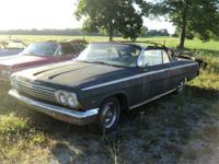 1962 Chevy Impala Convertible, car to restore, car has
