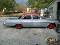 62 Belair 4 door 283 cid motor, 350 Turbo, air ride