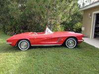 "1962 Corvette, 340 HP, 4 speed with ""brand-new"" red"