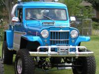 This is my pride and joy 1962 Willys Jeep 4x4 truck.