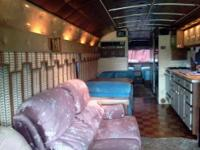 1962 GM greyhound bus converted to motor home Sleeps 4