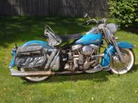 1962 FLH Panhead. Engine original and never