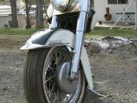 1962 Harley Davidson FL Panhead with 5 gallon tanks.I