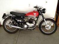 1962 Matchless G12CS. This classic cycle has low miles
