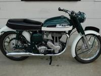 Show quality 1962 Norton ES2 500cc motorcycle. Full