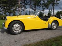 This Triumph TR3 has been in storage in a concrete