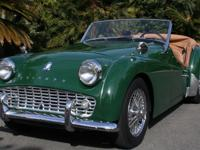 1962 Triumph TR3B -Desirable B model which came with