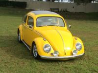 1962 VW BUG RAGTOP. New car, best of everything. A 2yr