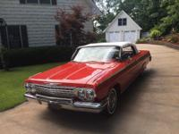 1962 Chevrolet Impala SS Convertible Red.  Beautifully