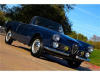 This 1963 Alfa Romeo 2600 Spider 2dr - . It is equipped