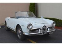 1963 Alfa Romeo Guilia Spider . White with black