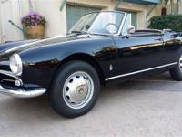 1963 Alfa Romeo Giulietta Spider ORIGINAL MATCHING