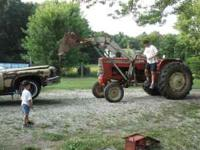 1963 allis chalmers D19 tractor with loader, 6 cyl