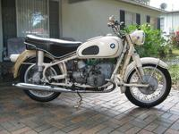 Here I have for sale is a 1963 BMW R60/2. This bike is