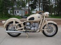 1963 BMW R69S Fully restored. This bike was completely