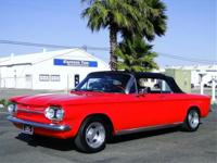 1963 CHEVROLET CORVAIR CONVERTIBLE, 110HP 4 SPEED