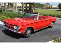 1963 Chevrolet Corvair Spyder convertible. By far the