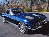 1963 Chevrolet Corvette coupe  With 75525 miles.