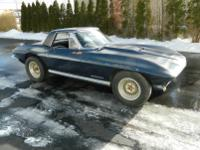 1963 Corvette convertible, 4 speed Muncie, originally a