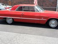 1963 Chevrolet Impala 2DR HT ..Riverside Red Paint ..