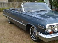 1963 Chevrolet Impala S.S. Convertible, 327/300 hp, 4