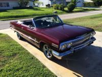 63 Impala SS Convertible 4 Speed.   -Car has a strong