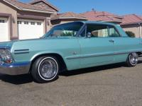 1963 Chevrolet Impala SS Green. SUSPENSION : FRAME WAS