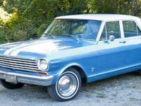 A clean four door 1963 Chevrolet Chevy II (Nova). A